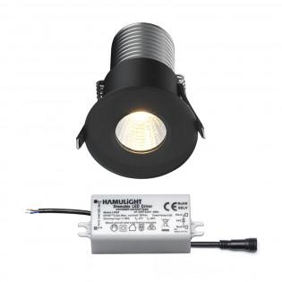 Citizen LED inbouwspot | zwart | warmwit | 7 watt | dimbaar L2145