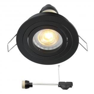 Coblux LED inbouwspot | zwart | warmwit | 5 watt | dimbaar | kantelbaar L2154