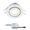 Creelux LED inbouwspot | wit | warmwit | 3 watt | dimbaar | kantelbaar