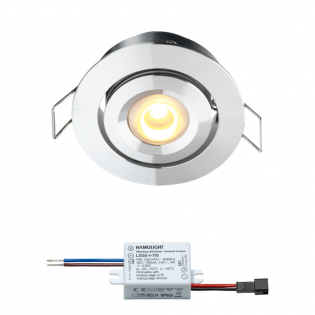 Creelux LED inbouwspot | warmwit | 3 watt | dimbaar | kantelbaar L10010