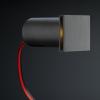 Cree LED trapverlichting Hernani | zwart | vierkant | warmwit | 1 watt