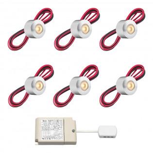 Cree LED veranda opbouwspot Gomera rts | warmwit | set van 6, 8, 10 of 12 stuks L2220