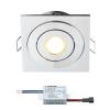 Creelux LED inbouwspot  | vierkant | warmwit | 3 watt | dimbaar | kantelbaar