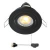 Coblux LED inbouwspot | zwart | warmwit | 5 watt | dimbaar | kantelbaar