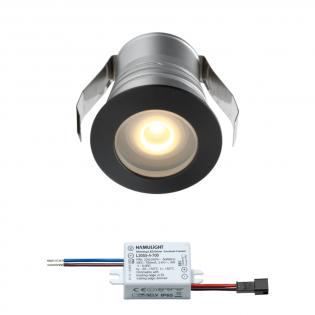 Cree LED inbouwspot Burgos | zwart | warmwit | 3 watt | dimbaar L2301