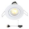 Coblux LED inbouwspot | wit | warmwit | 5 watt | dimbaar | kantelbaar