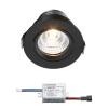 Sharp LED inbouwspot Granada | zwart | warmwit | 4 watt | dimbaar | kantelbaar