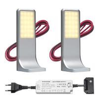 LED keuken opbouwspot Tumba   touch   warmwit   set van 2, 3 of 4 stuks L2116