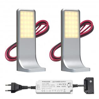 LED keuken opbouwspot Tumba | touch | warmwit | set van 2, 3 of 4 stuks L2116