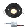 Creelux LED inbouwspot | zwart | warmwit | 3 watt | dimbaar | kantelbaar