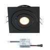 Creelux LED inbouwspot | zwart | vierkant | warmwit | 3 watt | dimbaar | kantelbaar